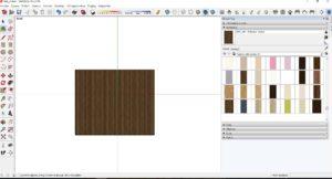 SketchUp materialy Bucina