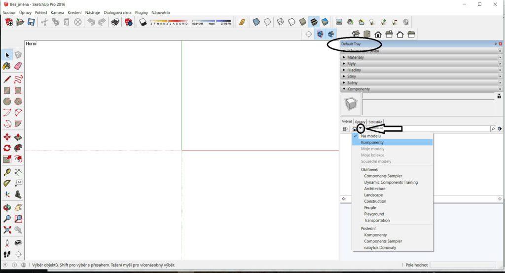 SketchUp knižnica komponentov