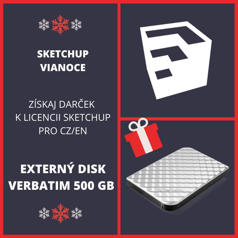 SketchUp darček - EXTERNÝ DISK VERBATIM 500 GB